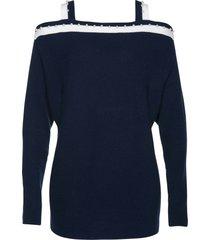 cold shoulder-tröja