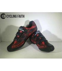 zapatillas para ciclismo de ruta smart sm3 sm0003r rojas/negra