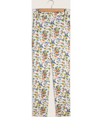 pantalón de flores blanco 6