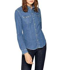 camisa azul denim pepe jeans