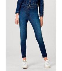 calça jeans hering jegging sem costuras laterais feminina - feminino