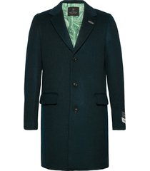 classic wool-blend overcoat wollen jas lange jas blauw scotch & soda