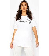 zwangerschap #mumlife t-shirt, wit