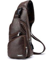 mochila bolso maleta hombre cruzada pequeña 13032 café
