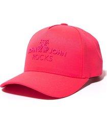 boné john john rocks pink rosa neon feminino (rosa neon, un)