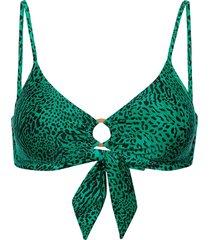 wild s ring front bralette bikinitop groen seafolly