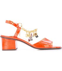 marc jacobs charm bracelet sandals - red