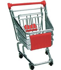 mini shopping cart - red - promotional product - your logo imprinted (case pack