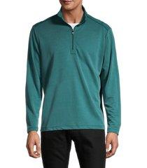 tommy bahama men's regular fit quarter zip sweater - seaway - size xxxl