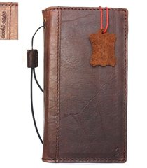 genuine leather case for samsung galaxy note 8 book card wallet cover slim brown
