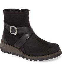 women's fly london sake bootie, size 7-7.5us - black