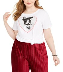 modern lux trendy plus size french bulldog graphic t-shirt