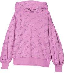 alberta ferretti lilac hoodie