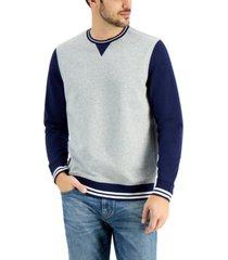 club room men's colorblock crew sweatshirt, created for macy's