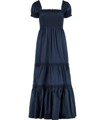 tory burch cotton midi dress