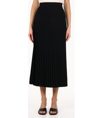 balenciaga long pleated skirt black