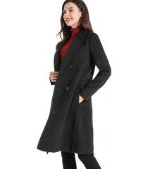 abrigo cuatro botones negro nicopoly