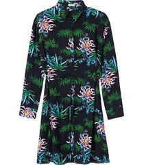 black 'sea lily' shirt dress