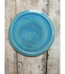 ceramiczny talerz obiadowy ocean blue