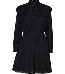 dress with ruffles and ladder details jurk knielengte zwart scotch & soda