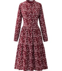 noella noella lipe dress bordeaux/white fall flower