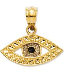 14k gold charm, evil eye charm