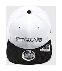 boné new era of sn black squad cap branco/preto