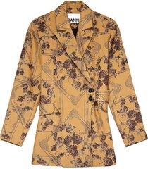 brocade floral blazer
