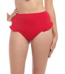 bikini calzón con vuelos rojo samia