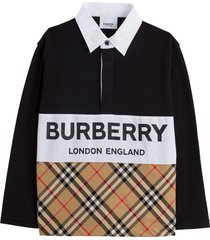 burberry quentin long sleeve polo shirt