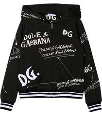 dolce & gabbana black sweatshirt