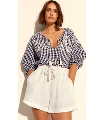 seafolly ally gingham cover up