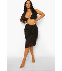 chiffon strand sarong, black