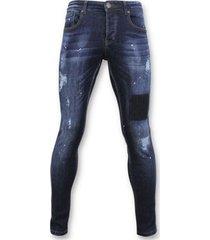 skinny jeans true rise basic jeans - spijkerbroek washed - d2432 -