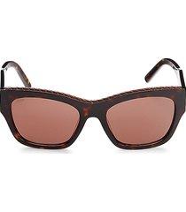tod's women's 55mm square sunglasses - havana brown