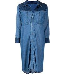 diesel tie-waist denim shirt-dress - blue