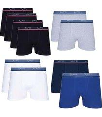 kit 10 cuecas boxer algodão cotton lupo masculina