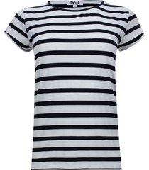 camiseta franjas delgadas de color color azul, talla xs