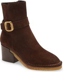 women's tod's buckle bootie, size 6us - brown