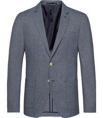 classic blazer in structured yarn-dyed pattern blazer kavaj blå scotch & soda
