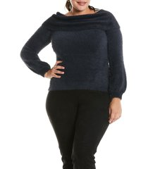estelle leah sweater, size 3x in navy at nordstrom