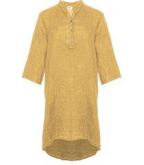 tiffany tiffany linne skjortklänning senape, 17690