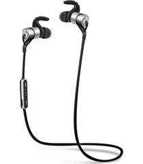audífonos bluetooth, d9 deportes inalámbrico audifonos bluetooth manos libres  auricular anti-sudor auriculares de metal earbuds auriculares con micrófono en la oreja para smartphones iphone (plata)