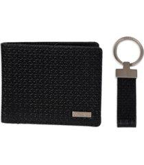 calvin klein men's rfid slimfold wallet & key fob set