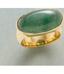 elliptical jade ring