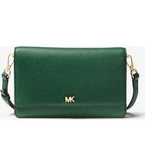 mk borsa a tracolla convertibile in pelle martellata - muschio (verde) - michael kors
