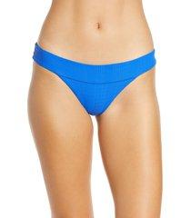 women's l space veronica bikini bottoms, size large - blue