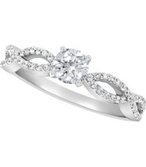 certified round diamond engagement ring (3/4 ct. t.w.) in platinum
