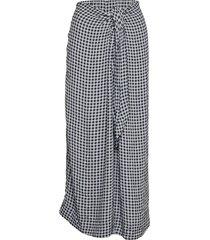 printed crepe knälång kjol blå ganni