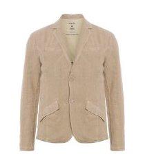 blazer masculina casual cotton linen - marrom